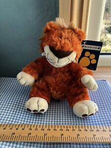 BNWT BEAR FACTORY TIGER CAT SOFT TOY COMFORTER SOOTHER DOUDOU ORANGE