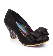 Irregular Choice 'Ban Joe' (AE) Black Mid Heel Bow Shoes