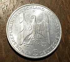 TRES BELLE PIECE DE 5 DEUTSCHE MARK 1978 D EN ARGENT (78)