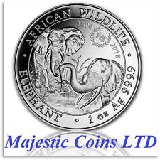 2018 Somalia 1 oz Silver Elephant 15th Anniversary Coin