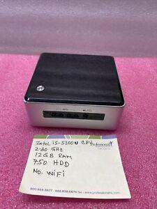 Micro PC NUC5i5RYH Intel NUC Core i5-5300U 2.30GHz 12GB RAM 750GB HDD
