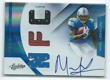 2011 Absolute Mikel Leshoure RPM TRIPLE JERSEY / BALL RELIC AUTO RC #212 18/49