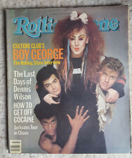 Boy George The Jacksons Rolling Stone Music Magazine Issue #423 June 1984