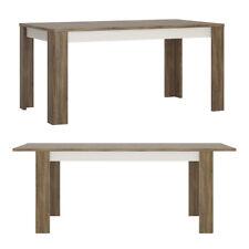 Eden Extension Table salle à manger en ALPINE blanc avec Sterling chêne vivant d