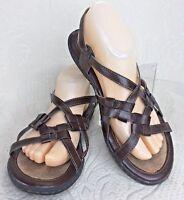 BORN Concept Women 8 Sandal Brown Slingback Vegan Leather KESIA BOC Strappy Shoe
