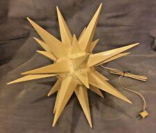 Vintage MORAVIAN STAR Bethlehem Hanging Lamp Mid Century Plastic Light Fixture