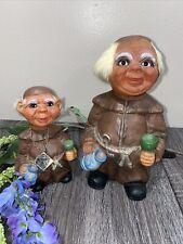 Vintage Nodder Drunken Monk Doll HEICO ~ Western Germany ~ Set Of 2 Bobble Head