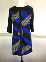 New Hourglass XXL fit  10 12 14 Knit Blue Black Spring Autumn Dress