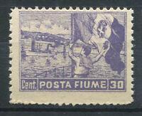 Fiume 1919 Sass. 39 Nuovo ** 100% 30 c.
