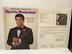 Muhammad Ali autographed signed 1974 Sports Illustrated SI  JSA Letter Of AUTH.