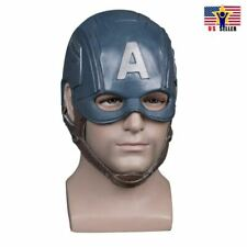 Captain America Helmet Costume Latex Rubber Horror Scary Mask Halloween Party