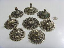 Antique Kuchi tribal Large fertility bra decoration 8 pendants belly dance 48899