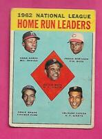 1963 TOPPS # 3 AARON / BANKS / MAYS / ROBINSON LEADERS  VG CARD (INV# C3149)
