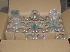 48 - Bombay Sapphire East Acrylic Balloon Glasses Clear Top Blue Base 4 7/8 Tall