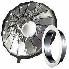 80cm Silver Folding Beauty Dish / Softbox to fit Elinchrom Studio Flash