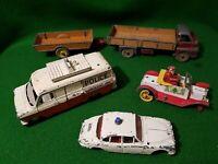 5x vintage diecast DINKY TOYS big bedford jaguar santa halesowen cars truck van