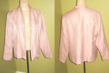 Free s/h EILEEN FISHER sz PS Pink Sparkle Open Front JACKET bust 38