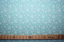 Baumwolle Snowlandia - tierische Weihnachten Flöckchen türkis von blend Fabric