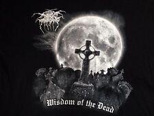 Darkthrone sabiduría de los muertos Camiseta Vintage F.O.A.D. Negro Punk Metal Y Morir