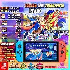 Zacian Zamazenta 2 x 1 pack Pokemon Sword Shield / 6IV Max EVs / best nature pvp