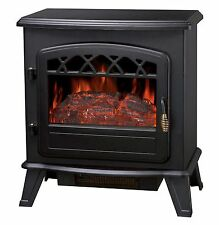 FoxHunter 1850W Log Burning Effect Electric Fire Stove Heater Fireplace ND-181M