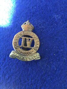 4th Queens Own Hussars Bi Metal Well Rubbed Cap Badge