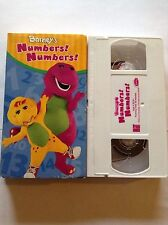 Barney's Numbers! Number's VHS Children's Video The Purple Dinosaur