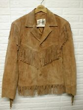 Vintage Bermans Leather Jacket Fringe Western Brown Tan 70s Wilsons Mens Size M