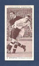 TOTTENHAM HOTSPUR FC BERT SPROSTON Spurs 1938 ENGLAND INTERNATIONAL Leeds MCFC