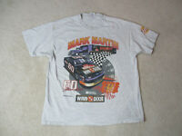 VINTAGE Nascar Mark Martin Shirt Adult Extra Large Gray Double Sided Mens 90s *