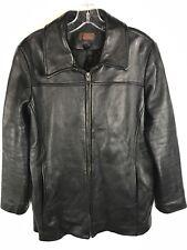 DANIER LEATHER Women's Black Leather Jacket Size Medium