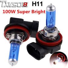 2x H11 H8 H9 100W Xenon Gas Halogen Car Headlight Fog Light Lamp Globe Bulbs AU