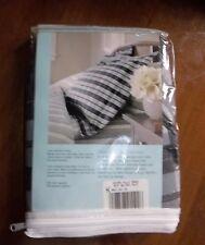 NEW Oxford PLAID SMOKE Martha Stewart Pillow SHAM Black Cotton Blend USA