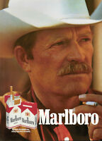 PUBLICITÉ DE PRESSE 1989 CIGARETTE MARLBORO THE NUMBER ONE -- COW-BOY