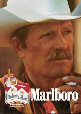 PUBLICITÉ DE PRESSE 1989 CIGARETTE MARLBORO THE NUMBER ONE -- COW-BOY