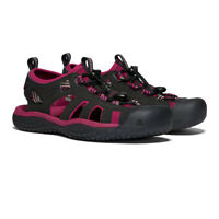 Keen Womens Solr Walking Shoes Sandals - Black Pink Sports Outdoors Breathable