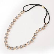 Women Crystal Rhinestone Headband Head Piece Hair Band Jewelry For Wedding Party