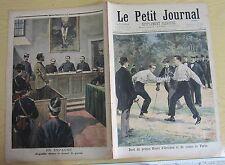 Le petit journal 1897 N° 354 Duel Prince Orléans Comte Turin Espagne Angiolillo