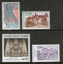SERIE TIMBRES 2704-2707 NEUF XX LUXE - SERIE TOURISTIQUE DE 1991
