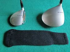 Knitted zebra style Fairway & Driver Golf Club head cover / Black