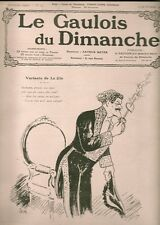 LE GAULOIS DU DIMANCHE 1909 OPERA DE MONTE-CARLO ...