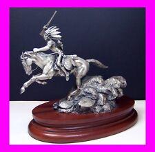 "Chilmark Fine Pewter Figurine By Polland 1991 ""CRAZY HORSE"" #1286"
