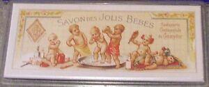 aimant, magnet publicitaire en métal,savon des jolis bébés 10 x 4,5 cm  ***9