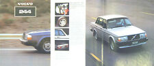 Volvo 244 Saloon DL GL GLE GLT 1980-81 Original UK Sales Brochure ASP/PV 8525-81