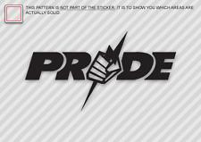 PRIDE Die Cut Decal Sticker Pride MMA UFC