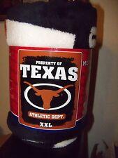"Texas Longhorns Football Super Soft & Comfy Micro Blanket Throw 50"" X 60"" Nip"