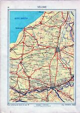 Antique map Veluwe Gelderland traffic Netherlands 1936