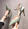 Womens Pointed Toe High Heels Rhinestone Ankle Strap Stiletto Sandals Party Shoe
