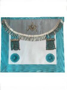 Masonic Regalia Scottish Ritual apron Compasses Engraved With Thistles