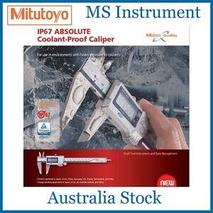 "Genuine Mitutoyo 500-753 Coolant Proof Digital Caliper 200mm 8"" Australian Stock"